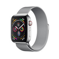 Apple Watch Series 4 (GPS+Cellular) 44mm Stainless Steel Case With Milanese Loop (MTV42)