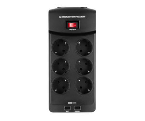Сетевой фильтр Monster Core Power 600 USB - 6 розеток + USB (MNO-121858-00)