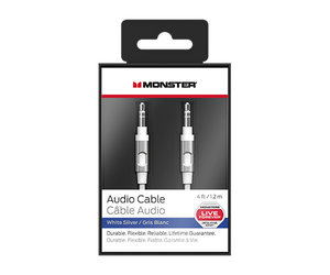 Кабель Monster Mobile Audio Cable 1.2 m - White and Silver (MNO-133015-00)