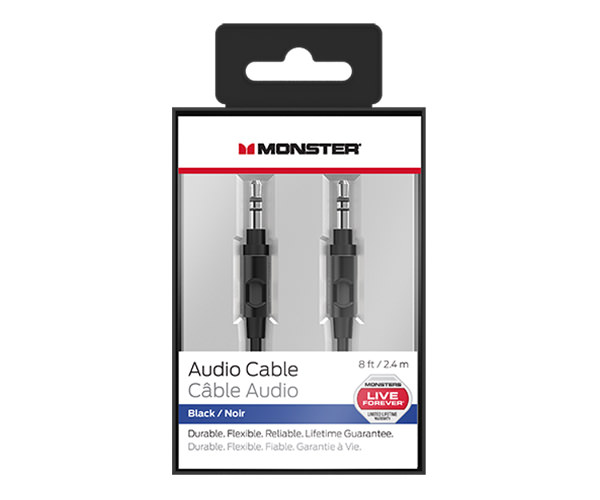 Кабель Monster Mobile Audio Cable 2.4 m - Black (MNO-133017-00)