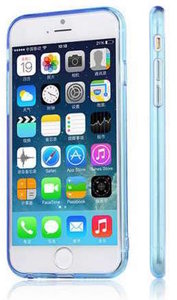 Чехол-накладка для iPhone 6 Plus - Silicone Case - Clear-Blue