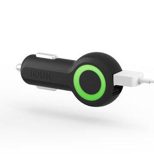 Автомобильное зарядное устройство - iOttie 25W RapidVolt - Black (CHCRIO101BK) - фото 1