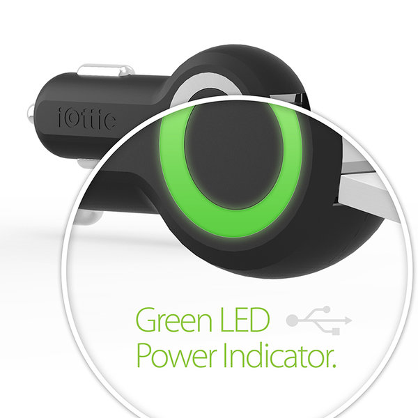 Автомобильное зарядное устройство - iOttie 25W RapidVolt - Black (CHCRIO101BK)