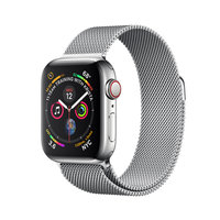 Apple Watch Series 4 (GPS+Cellular) 40mm Stainless Steel Case With Milanese Loop (MTUM2)
