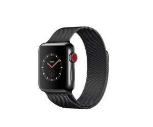 Apple Watch Series 3 (GPS + Cellular) 38mm Space Black Stainless Steel w. Space Black Milanese L. (MR1H2)