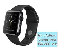 Apple Watch 38mm Space Black Stainless Steel Sport Band Black (MLCK2)