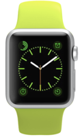 Apple Watch Sport 38mm Silver Aluminum Sport Band Green (130–200mm)(MJ2U2)