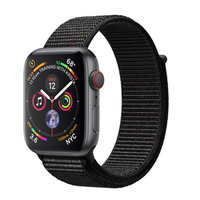 Apple Watch Series 4 (GPS+Cellular) 40mm Space Gray Aluminum w. Black Sport Loop (MTUH2)
