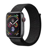 Apple Watch Series 4 (GPS+Cellular) 40mm Space Gray Aluminum w. Black Sport Loop (MTUH2)