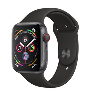 Apple Watch Series 4 (GPS+Cellular) 40mm Space Gray Aluminum w. Black Sport Band (MTUG2, MTVD2)