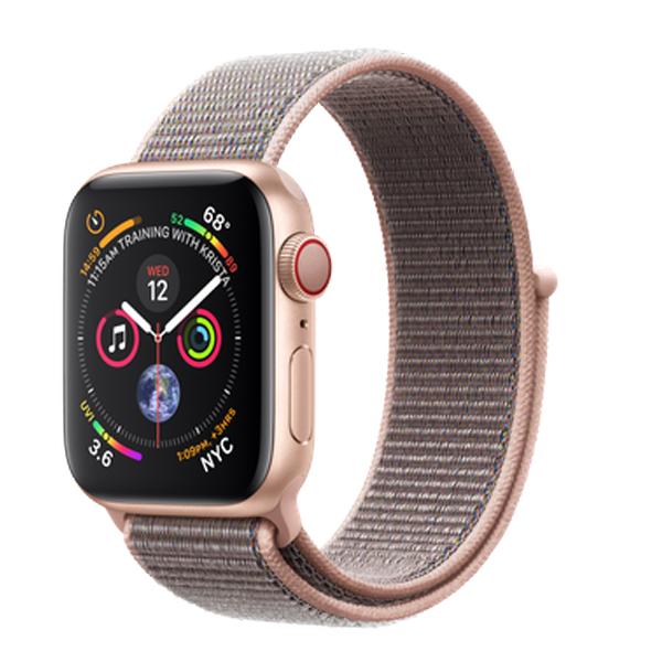 Apple Watch Series 4 (GPS+Cellular) 40mm Gold Aluminum w. Pink Sand Sport Loop (MTUK2)