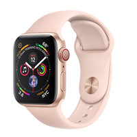 Apple Watch Series 4 (GPS+Cellular) 40mm Gold Aluminum w. Pink Sand Sport Band (MTUJ2, MTVG2)
