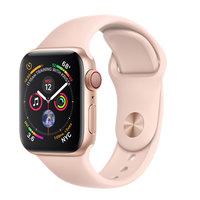 Apple Watch Series 4 (GPS+Cellular) 40mm Gold Aluminum w. Pink Sand Sport Band (MTUJ2, MTVG2)