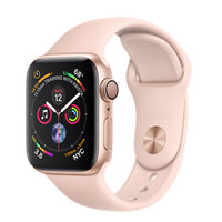 Apple Watch Series 4 (GPS) 40mm Gold Aluminum w. Pink Sand Sport Band (MU682)