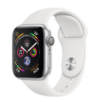 Apple Watch Series 4 (GPS) 40mm Silver Aluminum w. White Sport Band (MU642)