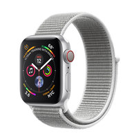 Apple Watch Series 4 (GPS+Cellular) 40mm Silver Aluminum w. Seashell Sport Loop (MTUF2, MTVC2)