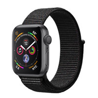Apple Watch Series 4 (GPS) 40mm Space Gray Aluminum w. Black Sport Loop (MU672)