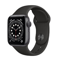 Apple Watch Series 6 GPS 40mm Space Gray Aluminium Case with Black Sport Band (MG133)
