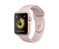 Apple Watch Series 3 (GPS) 42mm Gold Aluminum w. Pink Sand Sport B.- Gold (MQL22)