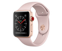 Apple Watch Series 3 (GPS + Cellular) 42mm Gold Aluminum w. Pink Sand Sport B. (MQK32)