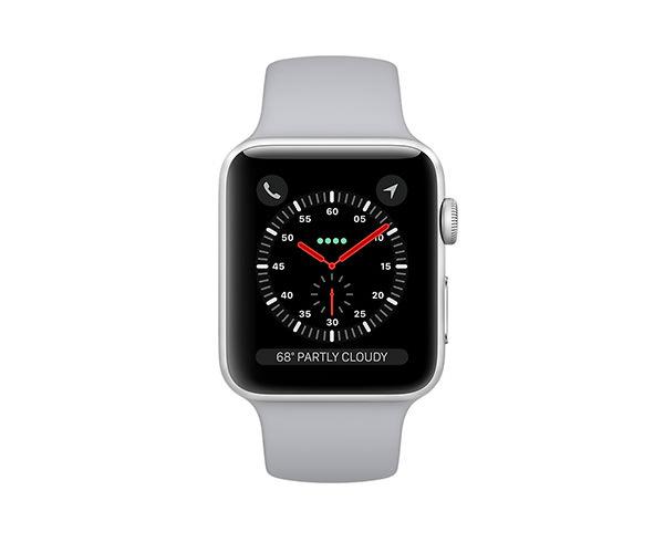 Apple Watch Series 3 (GPS + Cellular) 42mm Silver Aluminum w. Fog Sport B. (MQK12)