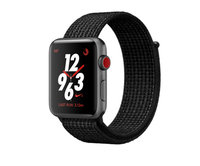 Apple Watch Nike+ Series 3 (GPS + Cellular) 42mm Space Gray Aluminum w. Black/Pure Platinum Sport L. (MQLF2)