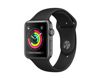 Apple Watch Series 3 (GPS) 38mm Space Gray Aluminium Case w. Black Sport B. Model A1858 (MTF02)