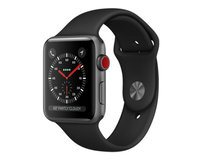 Apple Watch Series 3 (GPS + Cellular) 42mm Space Gray Aluminum w. Black Sport B. (MQK22)