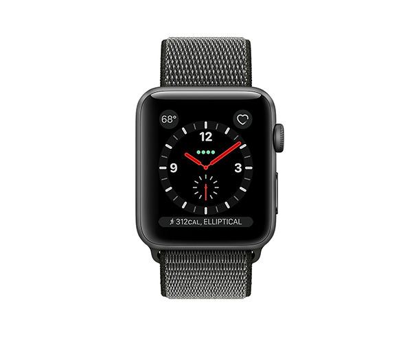 Apple Watch Series 3 (GPS + Cellular) 42mm Space Gray Aluminum w. Dark Olive Sport L. (MQK62)