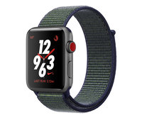 Apple Watch Nike+ Series 3 (GPS + Cellular) 42mm Space Gray Aluminium w. Midnight Nike Sport L. (MQMK2)