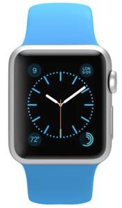 Apple Watch Sport 42mm Silver Aluminum Sport Band  Blue (140–210mm)(MJ3Q2)