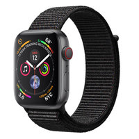 Apple Watch Series 4 (GPS+Cellular) 44mm Space Gray Aluminum w. Black Sport Loop (MTUX2)
