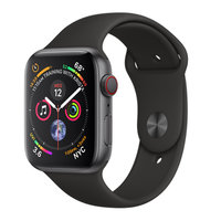 Apple Watch Series 4 (GPS+Cellular) 44mm Space Gray Aluminum w. Black Sport Band (MTUW2)