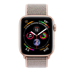 Apple Watch Series 4 (GPS) 44mm Gold Aluminum w. Pink Sand Sport Loop (MU6G2)