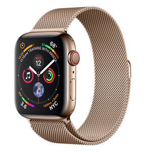 Apple Watch Series 4 (GPS+Cellular) 44mm Gold Stainless Steel Case With Gold Milanese Loop (MTV82)