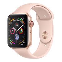Apple Watch Series 4 (GPS+Cellular) 44mm Gold Aluminum w. Pink Sand Sport Band (MTV02)