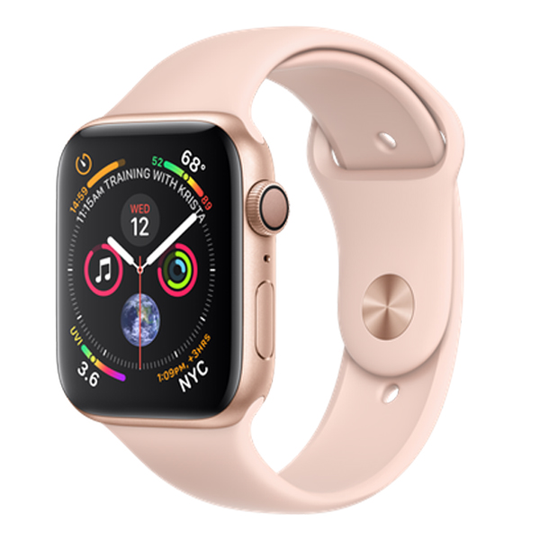 Apple Watch Series 4 (GPS) 44mm Gold Aluminum w. Pink Sand Sport Band (MU6F2)