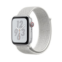 Apple Watch Series 4 Nike+ (GPS + Cellular) 44mm Silver Aluminum w. Summit White Nike Sport L. (MTXA2)
