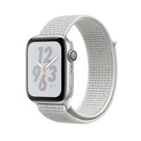 Apple Watch Series 4 Nike+ (GPS) 40mm Silver Aluminum Case with Summit White Nike Sport Loop (MU7F2)