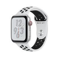 Apple Watch Series 4 Nike+ (GPS + Cellular) 44mm Silver Case w. Pure Plat/Black Nike Sport b. (MTXK2)