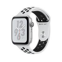 Apple Watch Series 4 Nike+ (GPS) 44mm Silver Aluminum w. Pure Platinum/Blk Sport Band (MU6K2)