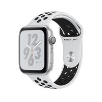 Apple Watch Series 4 Nike+ (GPS) 44mm Silver Aluminum w. Pure Platinum/Black Sport B. (MU6K2)