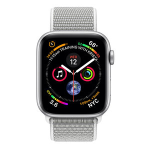 Apple Watch Series 4 (GPS) 44mm Silver Aluminum w. Seashell Sport Loop (MU6C2) - фото 1