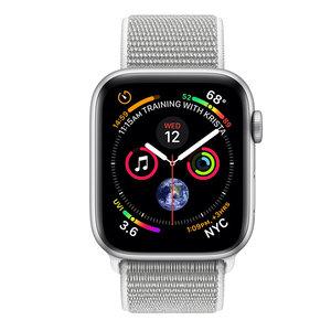 Apple Watch Series 4 (GPS+Cellular) 40mm Silver Aluminum w. Seashell Sport Loop (MTUF2, MTVC2)