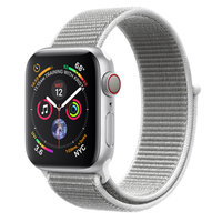 Apple Watch Series 4 (GPS+Cellular) 44mm Silver Aluminum w. Seashell Sport Loop (MTUV2)