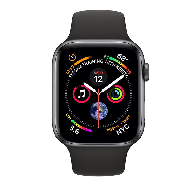 Apple Watch Series 4 (GPS) 40mm Space Gray Aluminum w. Black Sport Band (MU662)