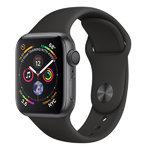 Apple Watch Series 4 (GPS) 44mm Space Gray Aluminum w. Black Sport Band (MU6D2)