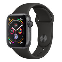 Apple Watch Series 4 (GPS) 44mm Space Gray Aluminum w. Black Sport Band