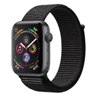 Apple Watch Series 4 (GPS) 44mm Space Gray Aluminum w. Black Sport Loop (MU6E2)