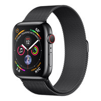 Apple Watch Series 4 (GPS+Cellular) 44mm Space Black Stainless Steel Case with Space Black Milanese Loop (MTV62)